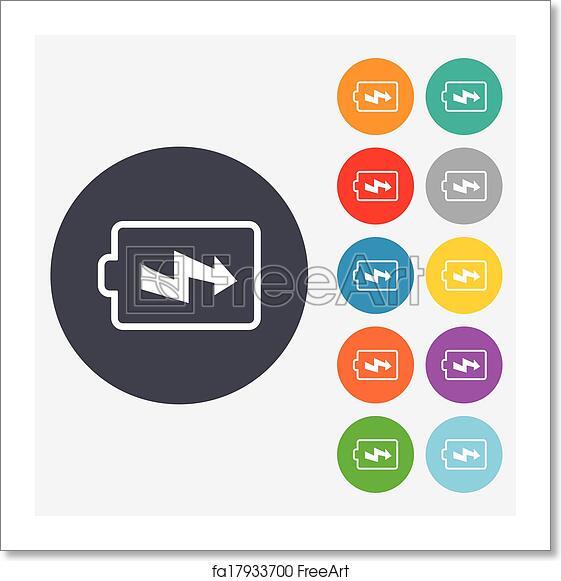 Free Art Print Of Battery Charging Sign Icon Lightning Symbol