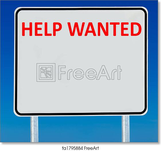 image relating to Help Wanted Sign Printable named Free of charge artwork print of Aid Preferred Indication