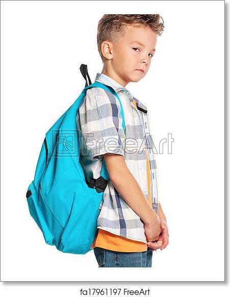953fb6daa1ab Free art print of Boy with backpack