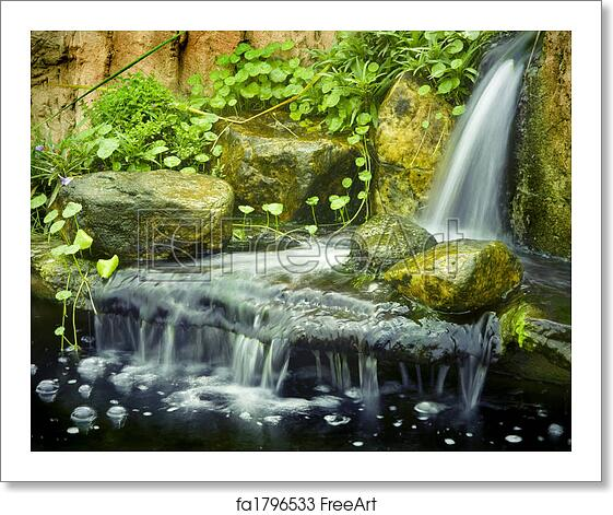 Free art print of zen garden japanese garden waterfalls for Zen garden waterfall