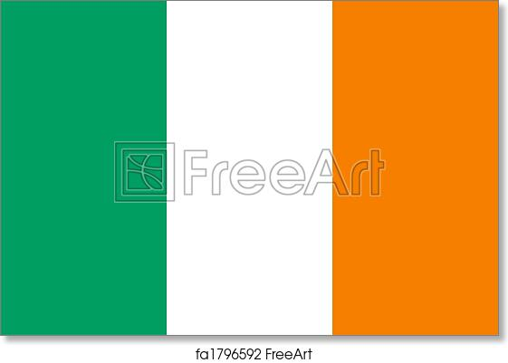 photograph regarding Flag of Ireland Printable identified as Cost-free artwork print of Eire flag