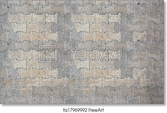 Free Art Print Of Brick Pavement Tile