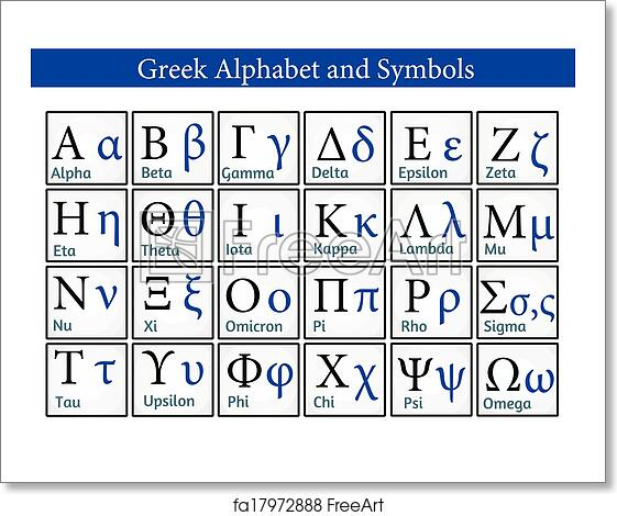 Free art print of Greek Alphabet and Symbols