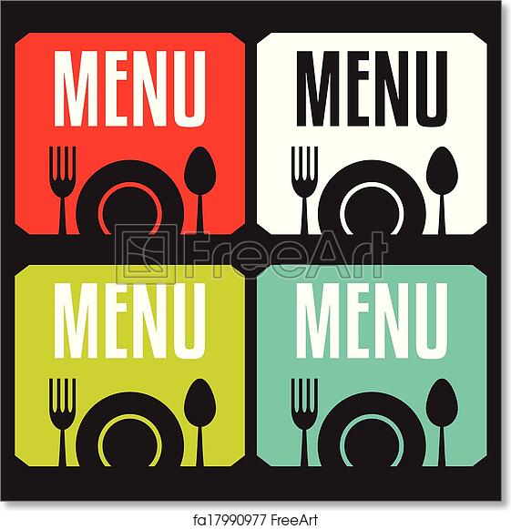 free art print of restaurant menu restaurant menu card design