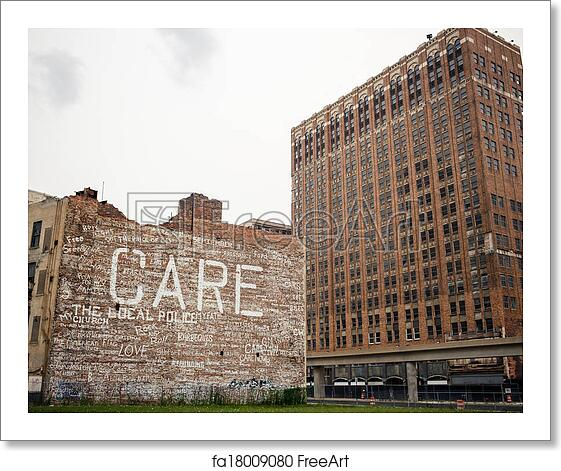 Free Art Print Of Downtown Detroit. View Of Abandoned