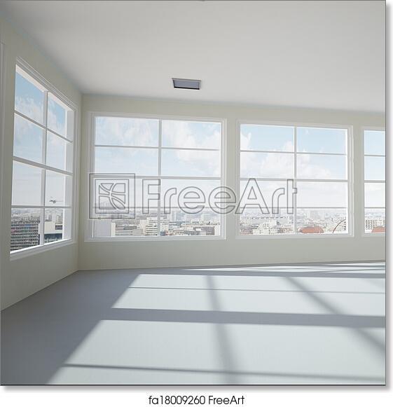Free art print of Empty modern office room. Empty modern office room ...
