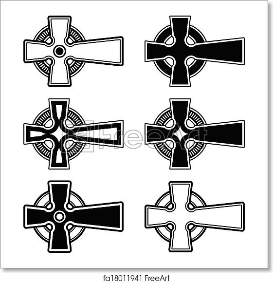 Free Art Print Of Irish Scottish Celtic Cross Vector Celtic