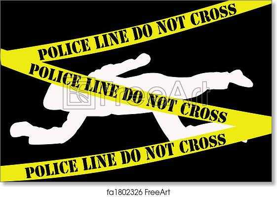 Free art print of Crime scene