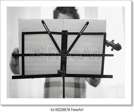 Free art print of The boy of the house plays a violin