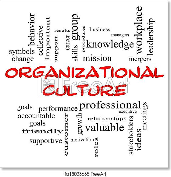 Free Art Print Of Organizational Culture Word Cloud Concept In Red
