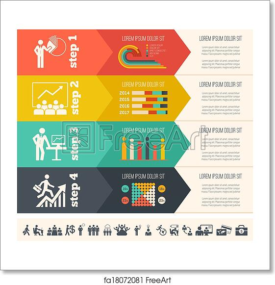 free art print of social media infographic template flat social