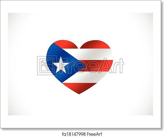 Free Art Print Of Puerto Rico Flag Themes Idea Design