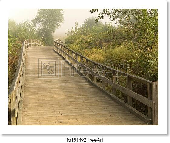 free art print of wooden bridge this is a shot of an old wooden