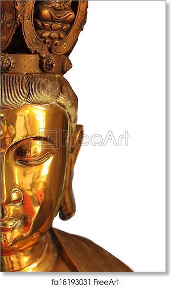 Free Art Print Of Half Buddha Face Closeup