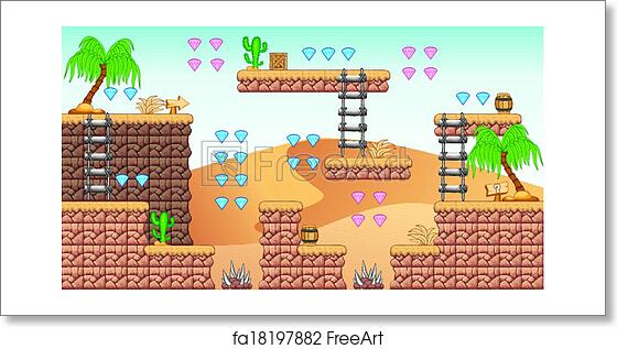 Free art print of 2D Tileset Platform Game 11