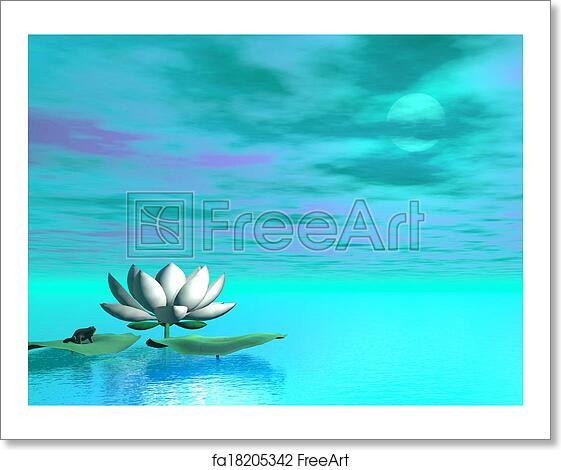 Free art print of Lily flower - 3D render