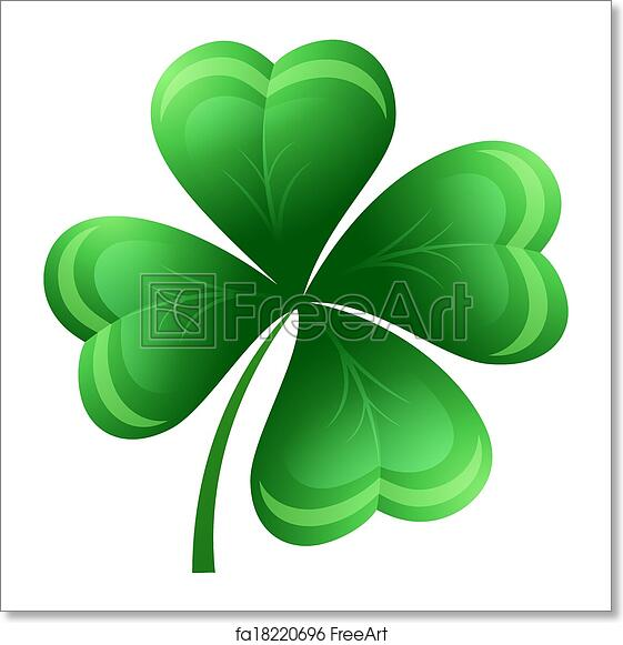 Free Art Print Of Shamrock Or Clover Leaf Vector Illustration