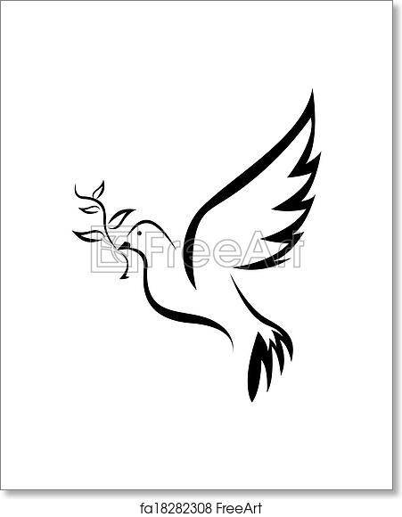 Free Art Print Of Dove Of Peace Simple Symbol Freeart Fa18282308
