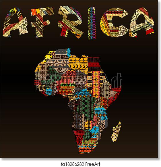 africa map art free print of africa map with typography made 10025