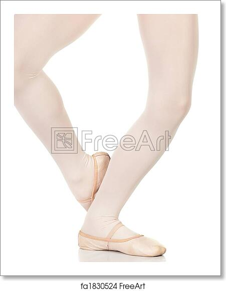 free art print of ballet feet positions young female ballet dancer