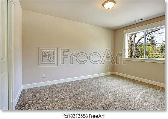 Free Art Print Of Bright Empty Bedroom Bright Empty Room With One