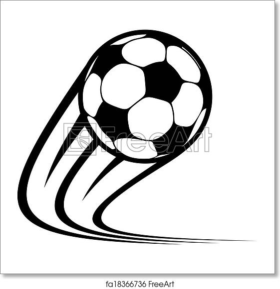 Free Art Print Of Zooming Soccer Ball Flying Through The Air
