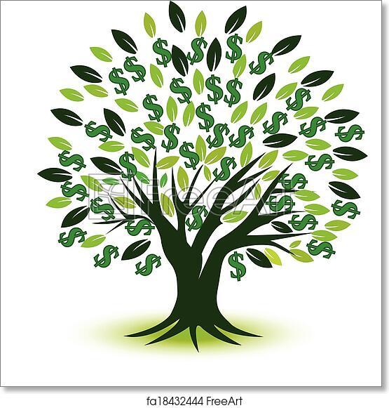 Free Art Print Of Money Tree Prosperity Symbol Logo Money Tree