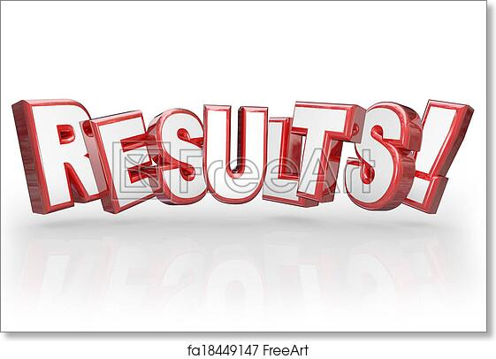 Free art print of Results 3D Word Accomplishment Outcome Achieve Goal