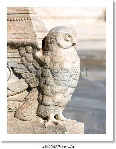 Free Art Print Of Greek Sculpture Of An Owl In A Column. Ancient Greek  Sculpture On Marble In The City Of Athens | FreeArt | Fa18464279