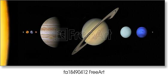 image relating to Printable Planets to Scale identify Free of charge artwork print of Sun procedure in the direction of scale