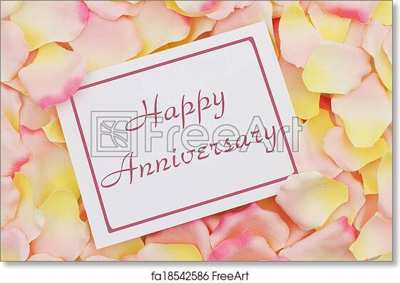Free art print of Happy Anniversary card . Happy Anniversary card, A ...