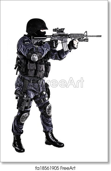 Free art print of SWAT officer. Special weapons and tactics (SWAT ...