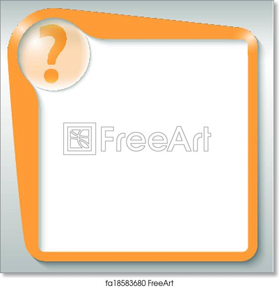 graphic relating to Printable Question Mark identify Cost-free artwork print of Orange terms box with wonder mark