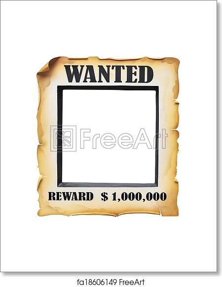 Free art print of Wanted poster paper on white background | FreeArt ...