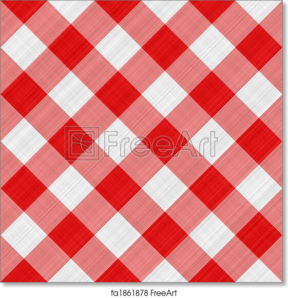 Free Art Print Of Red Table Cloth