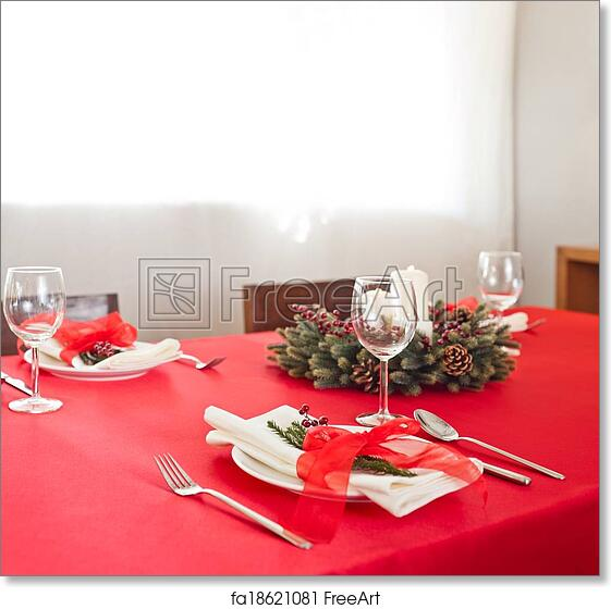 Free Art Print Of Christmas Dinner Table Setup Christmas Dinner