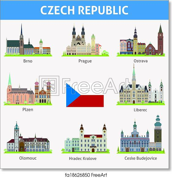 Free Art Print Of Czech Republic Symbols Of Cities Czech Republic