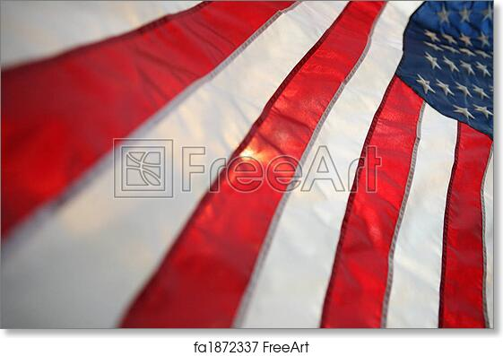 free art print of backlit usa flag vertical the flag of the united