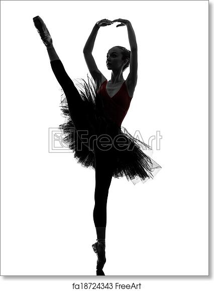 9b15e30e9d7b0 Free art print of Young woman ballerina ballet dancer dancing silhouette.  One caucasian young woman ballerina ballet dancer dancing with tutu in  silhouette ...