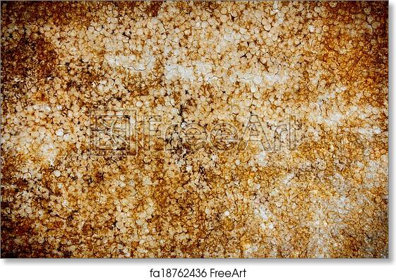 Free art print of Texture of old polystyrene foam