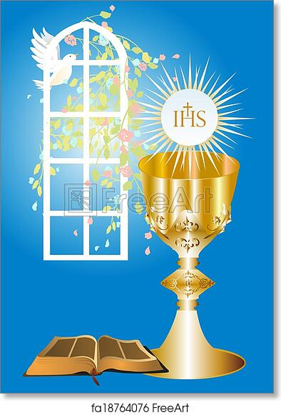 Free Art Print Of First Communion Background With Characteristic