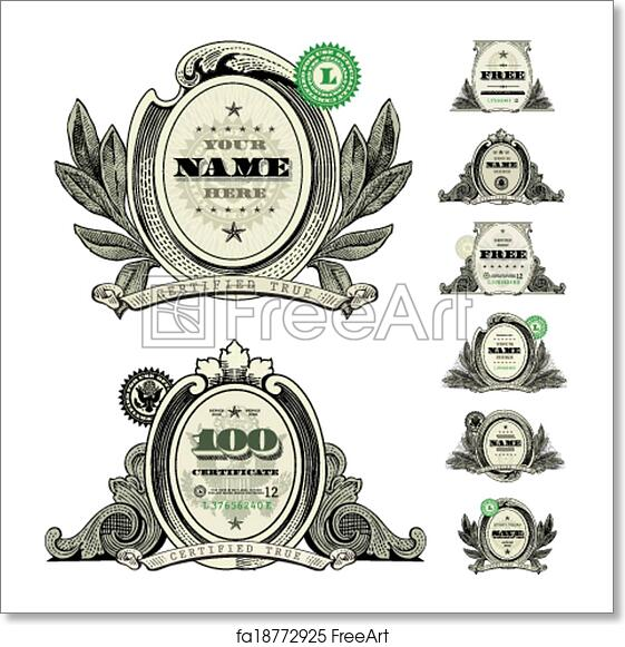 Free art print of Vector Money Logo and Dollar Frame Set. Easy to ...