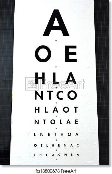 photograph regarding Snellen Chart Printable known as No cost artwork print of Eye analysis - Snellen chart