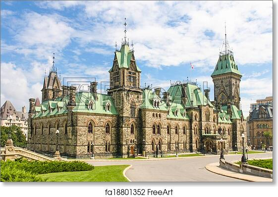 Free Art Print Of Canadian Parliament Building Gothic Revival Style Ottawa Canada