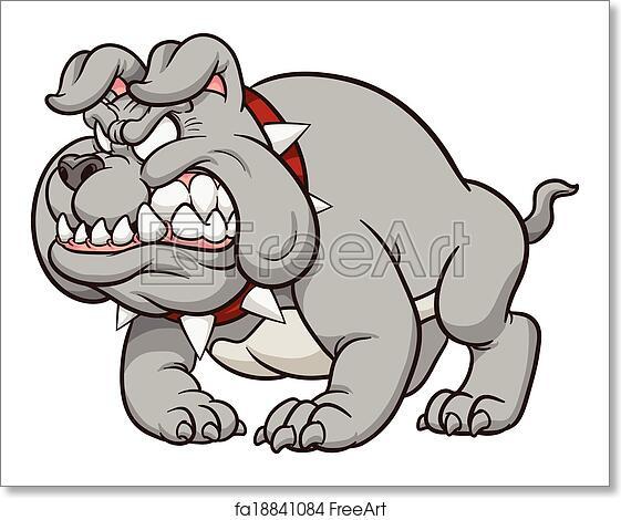 Free Art Print Of Cartoon Bulldog Mascot Cartoon Bulldog Mascot
