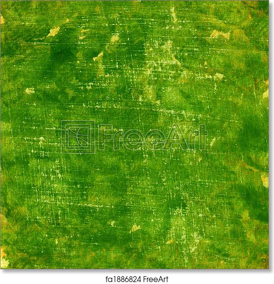 Free art print of Green grunge painted watercolor paper texture