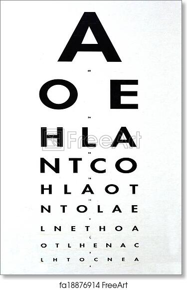 image relating to Eye Chart Printable named No cost artwork print of Eye investigation - Snellen chart