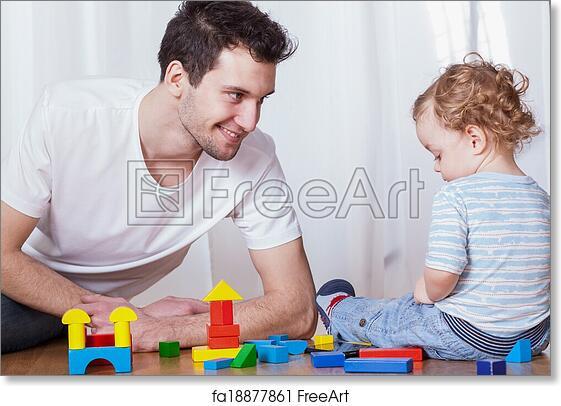 Free Art Print Of Dad Having Fun With Son