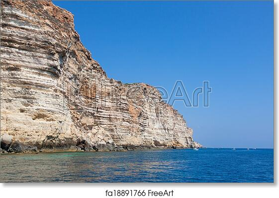 Free Art Print Of Rocks In Lampedusa Island Sicily Italy Freeart