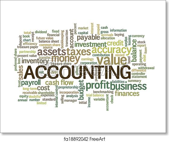 free art print of accounting word cloud word bubble tags accounting